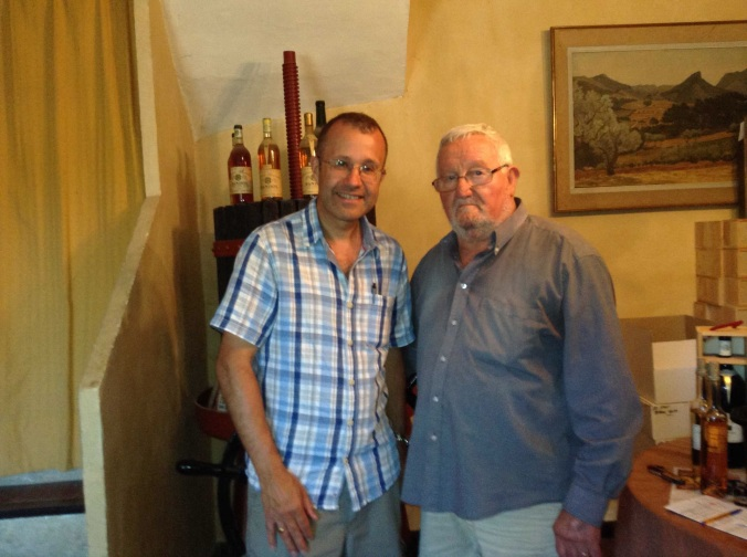 Tim and Castel at Lafran-Veyrolles Degustion