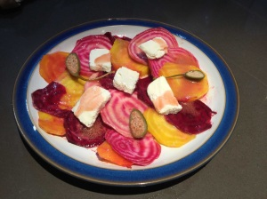 Rainbow Goat's Cheese and Beetroot Salad