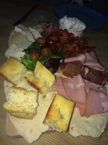Tagliere platter of Italian cured meats and cheeses