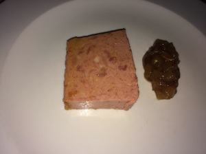 Coarse Pate with fruit chutney