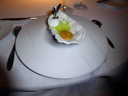 Lightly Marinated Oyster