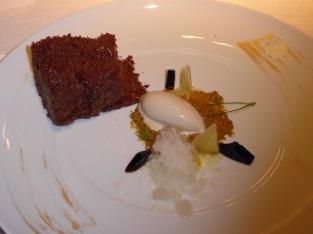 Chocolate rock on salted quinoa